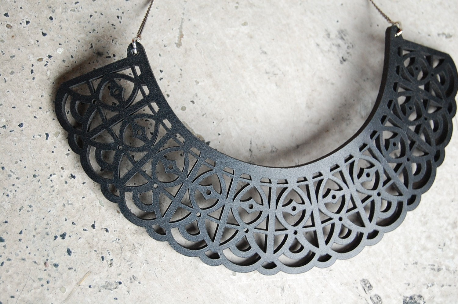 Laser cut Lace necklace.