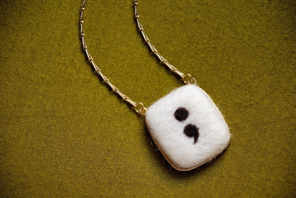 Semi-Colon Necklace