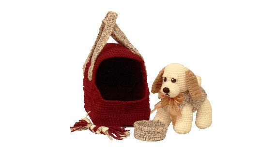 Free Crochet Pattern Dog Carrier : Items similar to Amigurumi Dog - Crochet Puppy Pattern ...