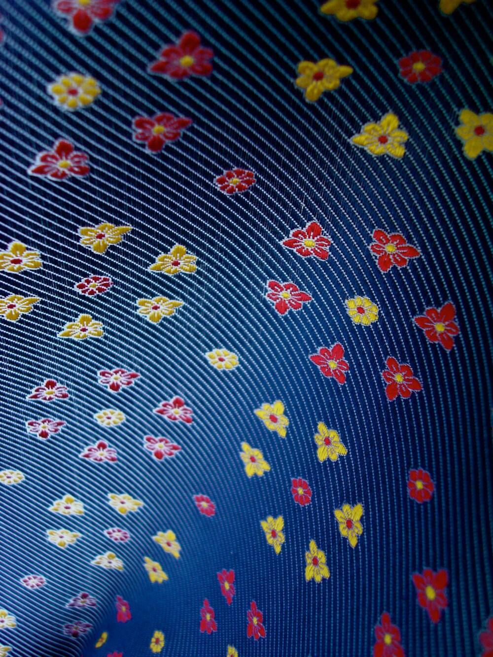 Silk Fabric Pure Silk Tie Brocade Fabric Red & by ...