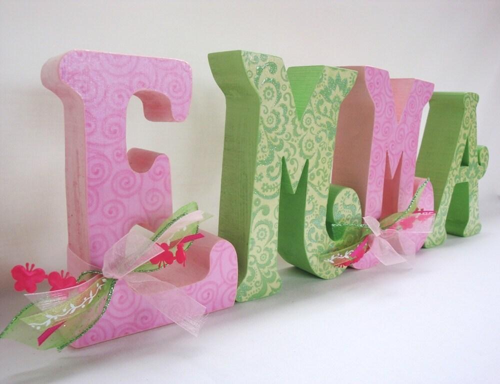 custom children 39 s decor wood letters nursery letters custom letters