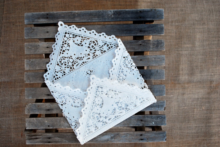 Lace Envelope, Set of 20, DIY wedding kits