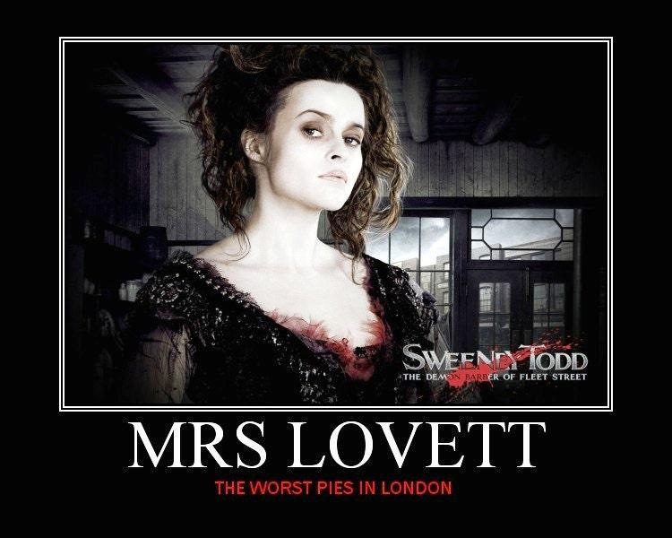 Sweeney Todd Mrs Lovett Mini Movie Poster by ...