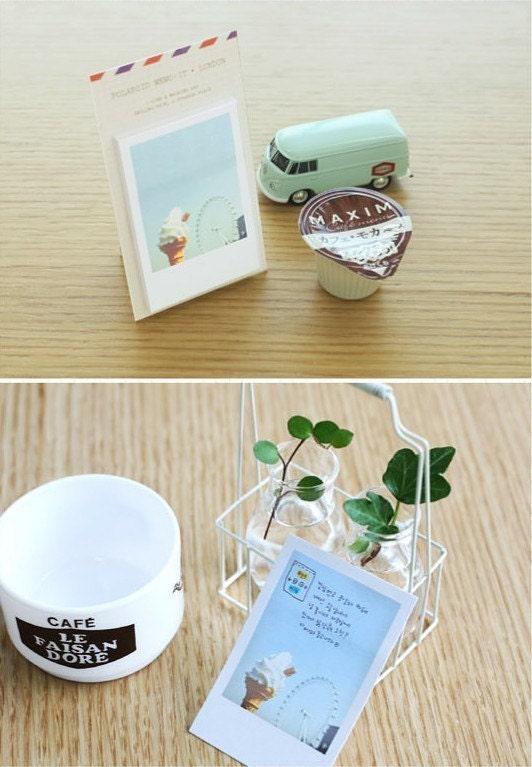 Polaroid style Mini Post It Memo Pad - London (40sheets)