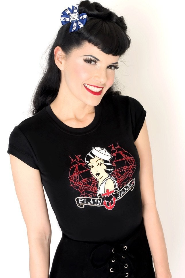 Navy Pin Up Wallpaper. Sailor pin up tattoo shirt