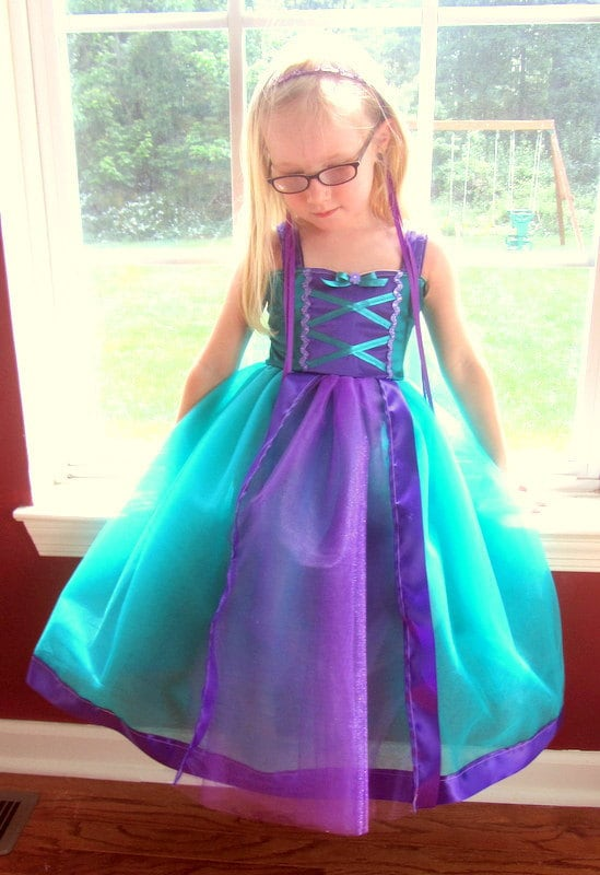Ariel Dress The Little Mermaid Purple Amp Ocean Blue By