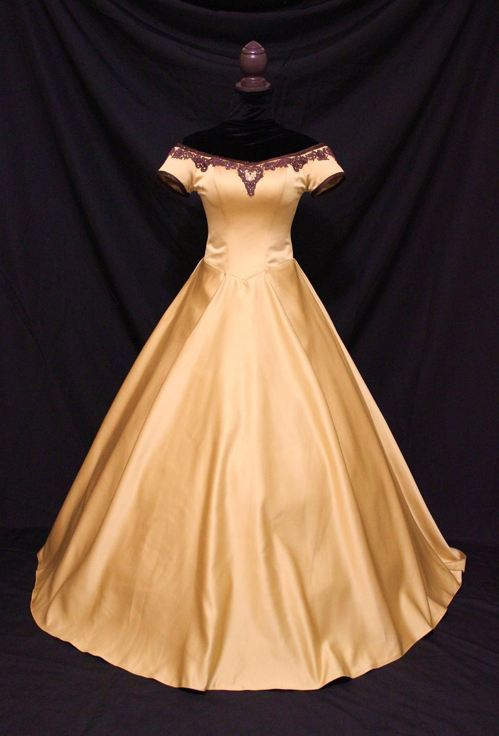 Once Upon A Time Belle Inspired Golden Gown by AddictedToMagic