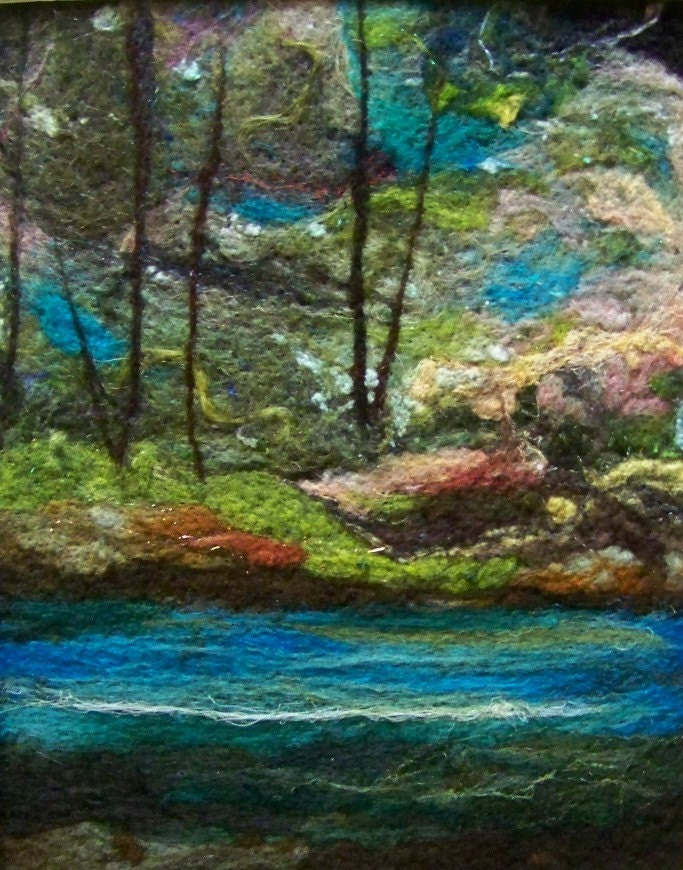 No.582 River Runs Too - Needlefelt Art Large