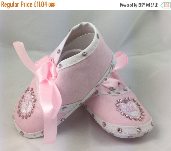 ON SALE Cotton Newborn Baby Infant Its a Girl Embellished Embroidered crib shoes Special Occasion  Pageant Wear Baby Shower Baptism Wedding
