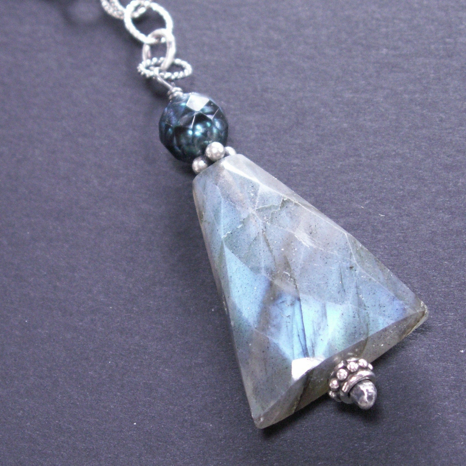 handcrafted necklace spectrolite labradorite necklace sterling silver