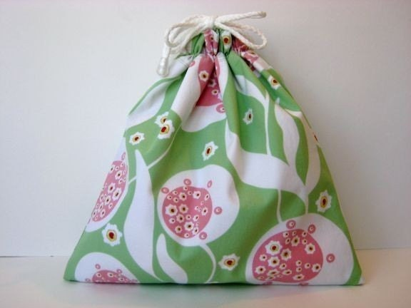 Small Wet Bag in Pink Green Coriander