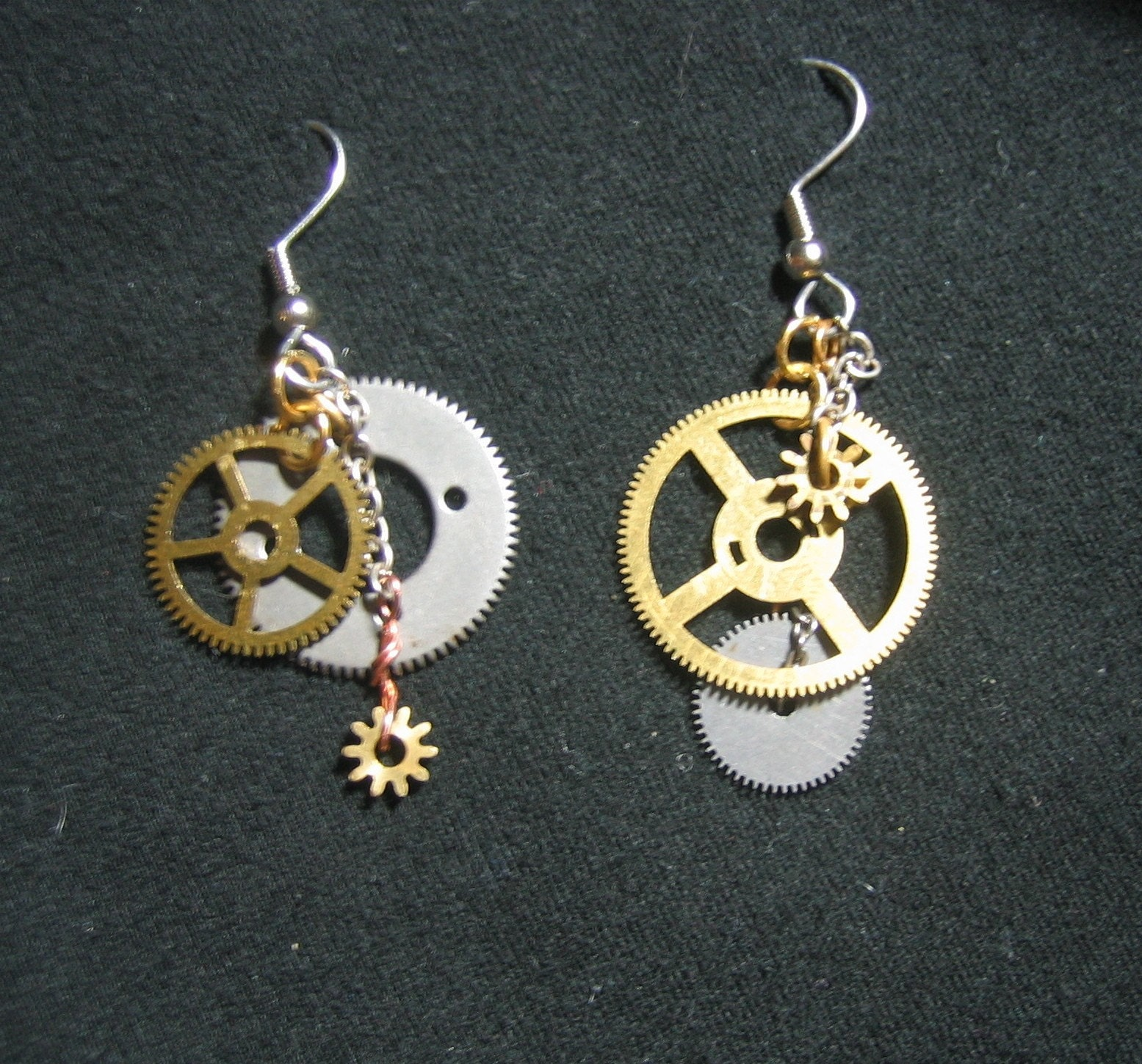 steunk earrings