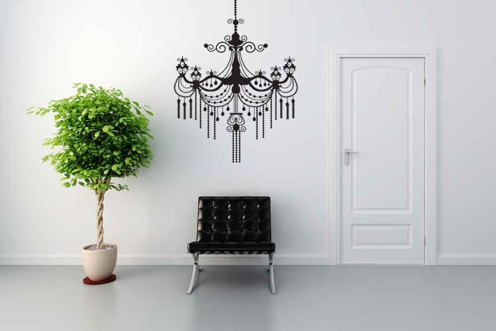 Baroque Chandelier Vinyl Wall Art Decal by VinylWallAccents