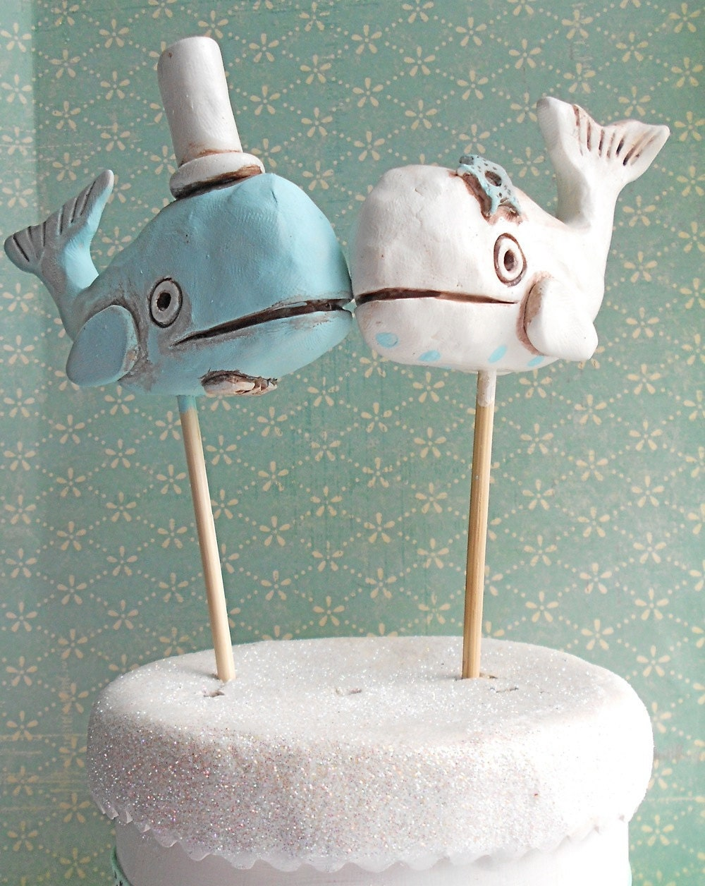 how to make a whale cake topper