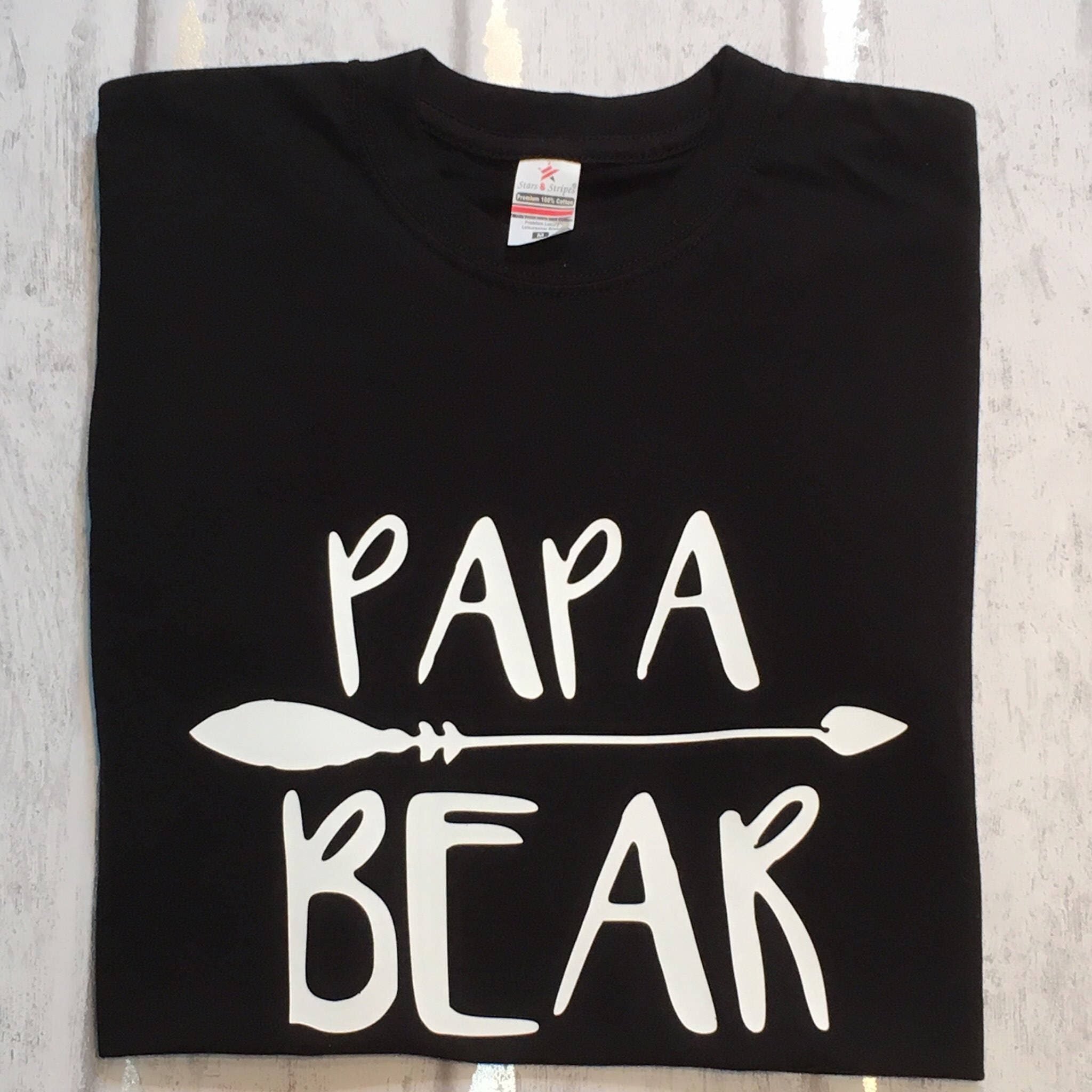 Papa Gift Dad Tshirt Fathers Day Gift Bear Top Tshirts For Dad Dads Tees Dads Shirt Mens Shirt Daddy Tshirt New Dad Gift