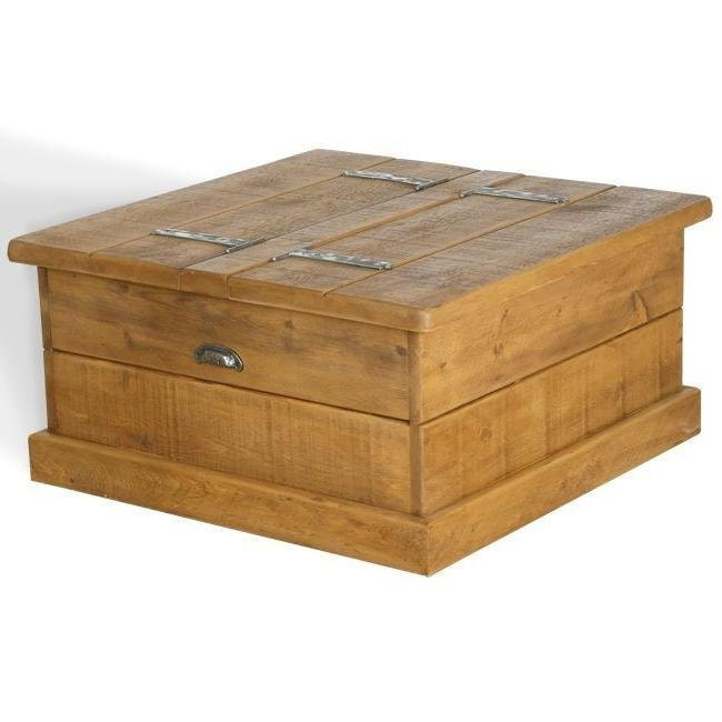 Rustic plank Furniture New Real Solid Wood Chunky Style Rustic Plank Pine Furniture box Coffee Table rustic pine furniture sawn