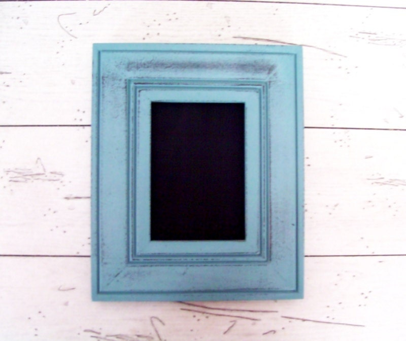 Chalkboard Frame Blue Frame Framed Chalkboard Dorm Room Decor Back To School - SeasideRoseCreations