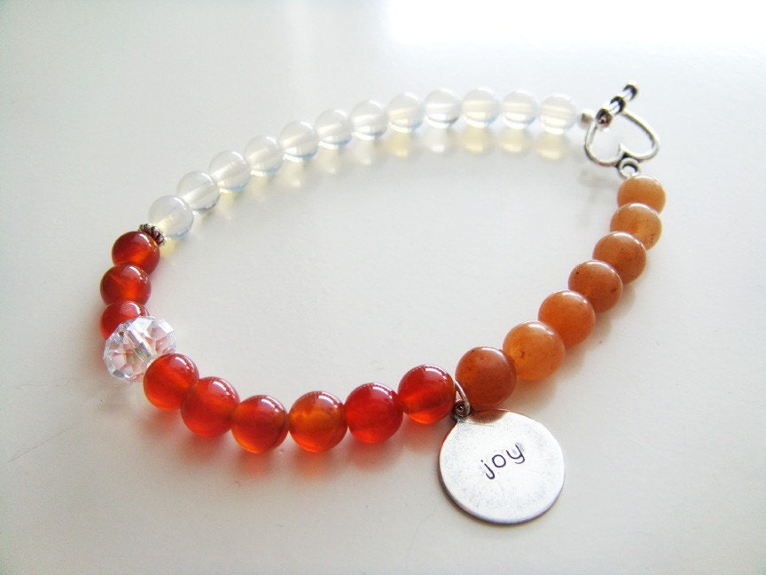 Fertility Tracking Bracelet - Peach Aventurine, Red Carnelian, Moonstone