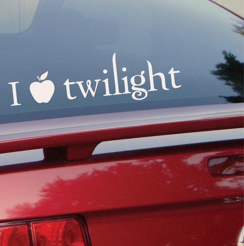 I love twilight vinyl wall decal or bumper sticker