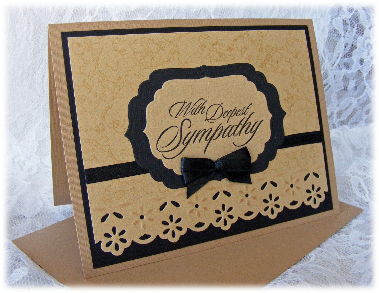 Elegant Handmade Sympathy Card With In Warm Calming Colors