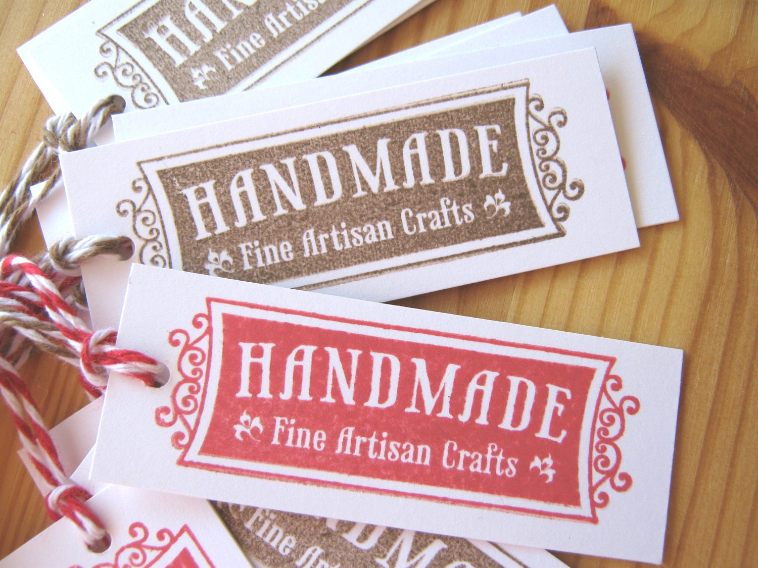 Handmade craft labels tags by charoneldesigns on etsy for Custom tags for crafts