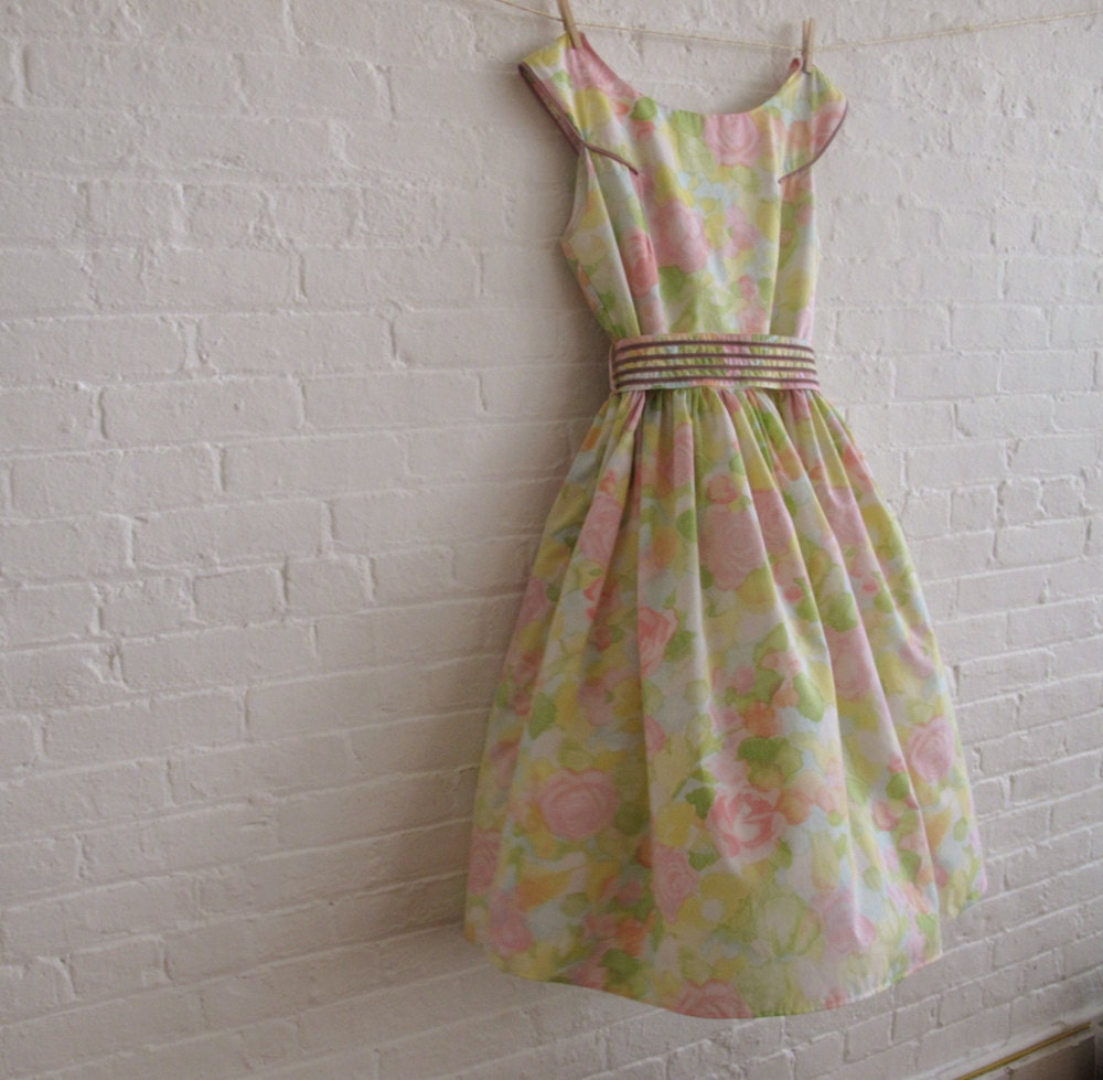 Muted pink tea dress