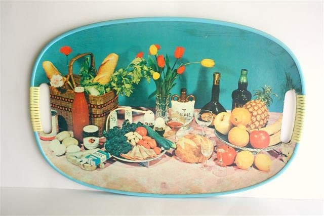 Vintage Unique Mid Century Picturesque Serving Tray by TogetherAgain on Etsy