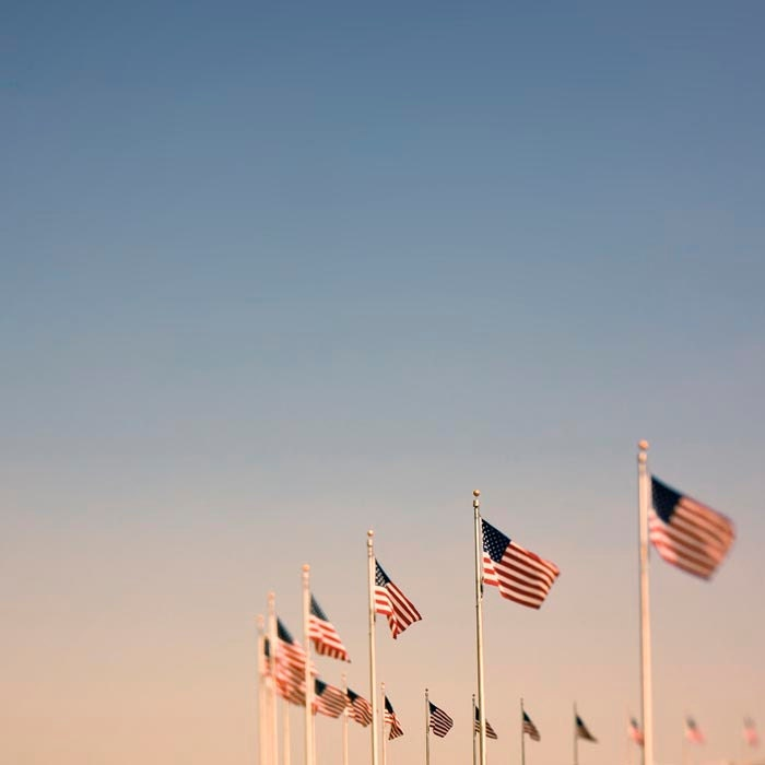 American Flags, Fine art photography print by raceytay