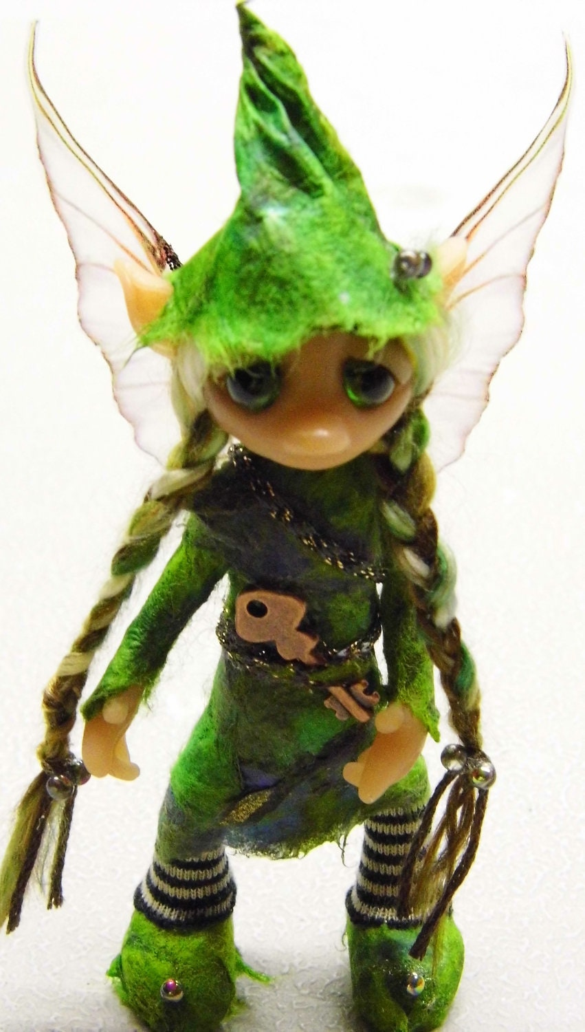 Ooak handmade polymer clay woodland fairy by woodlandkreatures