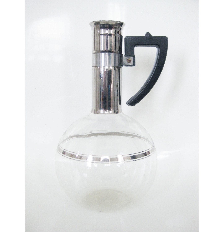 Modern Glass Coffee Maker : Vintage EAMES ERA Glass Coffee Pitcher Maker Erlenmeyer by OBJX