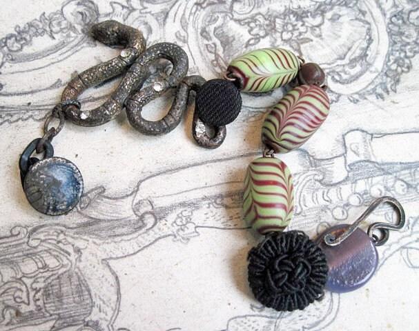Eons of Consequences. Assemblage Bracelet.