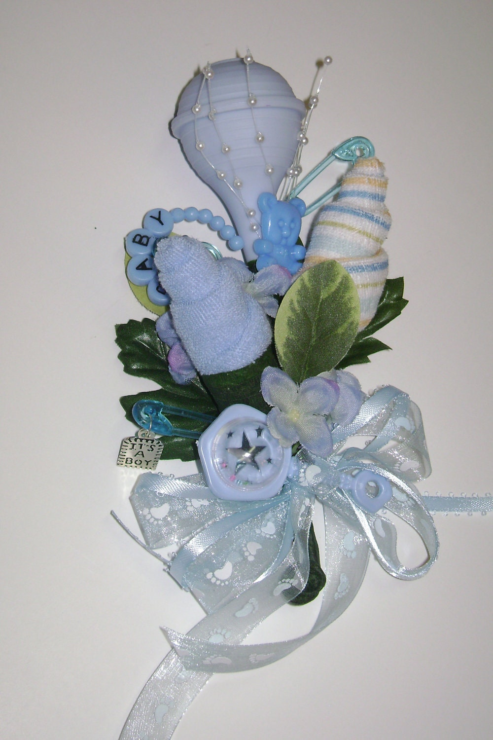 baby shower corsage boy washcloth corsage reusable items new mom