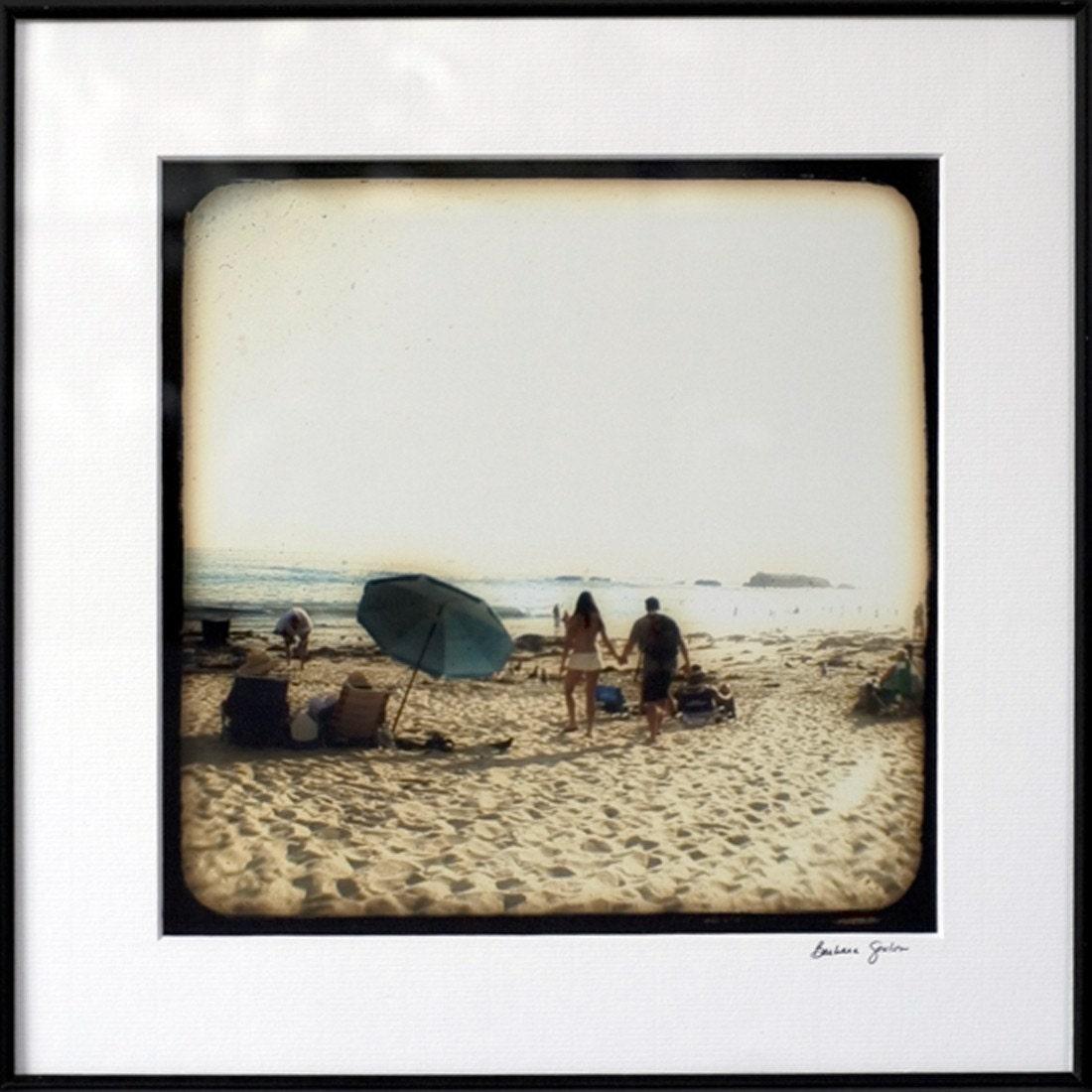 Beach Couple - 8x8 Original Signed Fine Art Photograph Framed - FREE U.S. SHIPPING