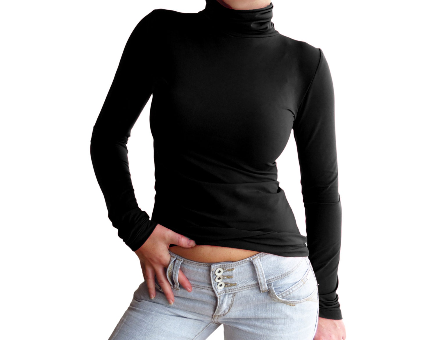301 moved permanently for Long sleeve black turtleneck shirt