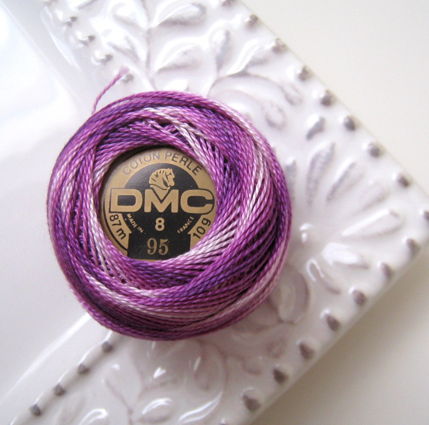 DMC Perle Cotton Thread Size 8 Variegated Purple 95 by NAKPUNAR from etsy.com