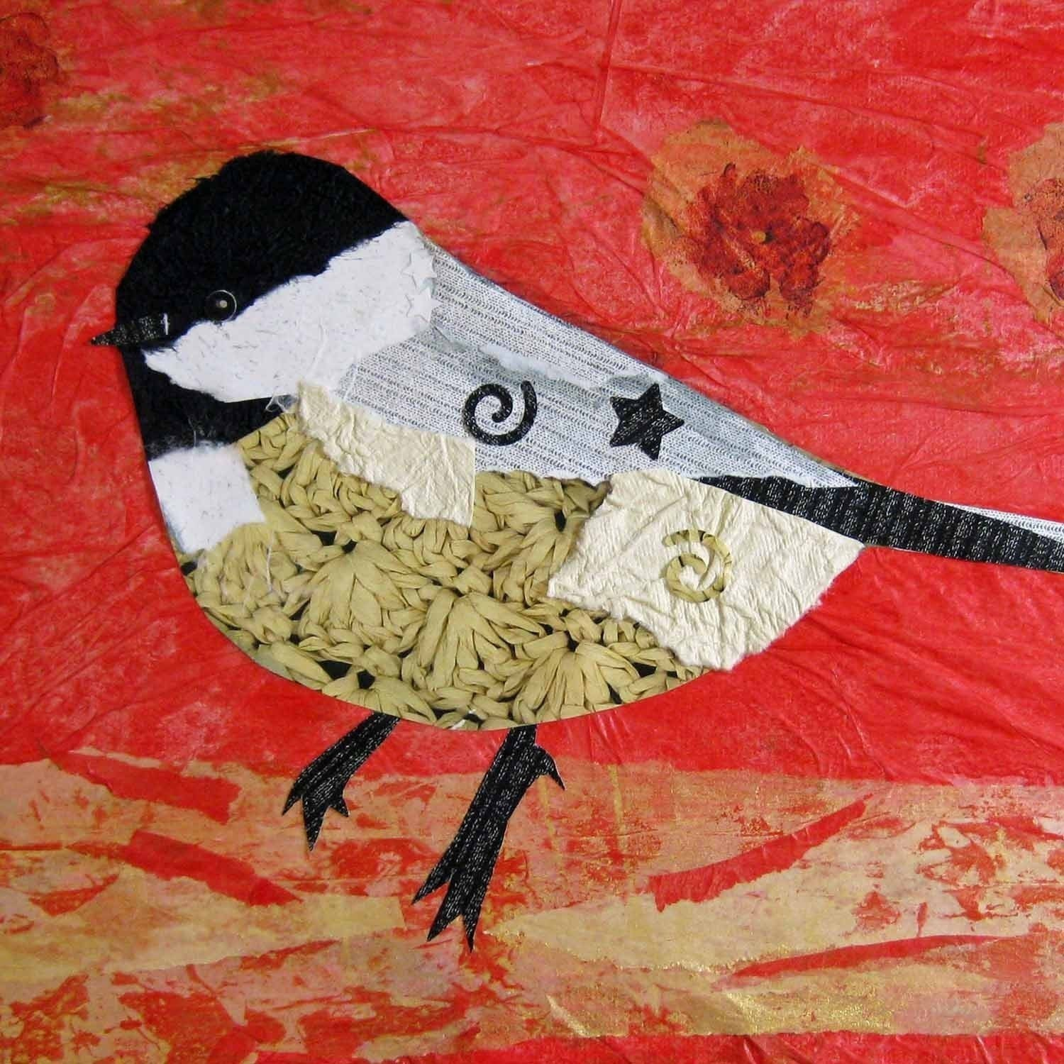 Bird Art Chickadee Cheerful and Fearless Giclee Print