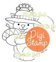 Instant Download Digital Stamp: Acorn Squirrel