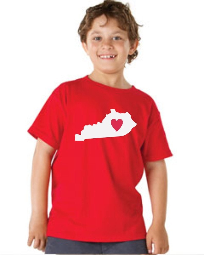 Shirt kentucky state custom tshirt new by oodlesdecals on etsy for Custom t shirts lexington ky
