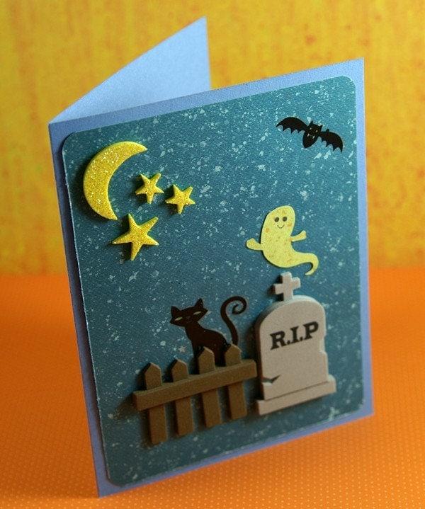 Spooky Scene Greeting Card