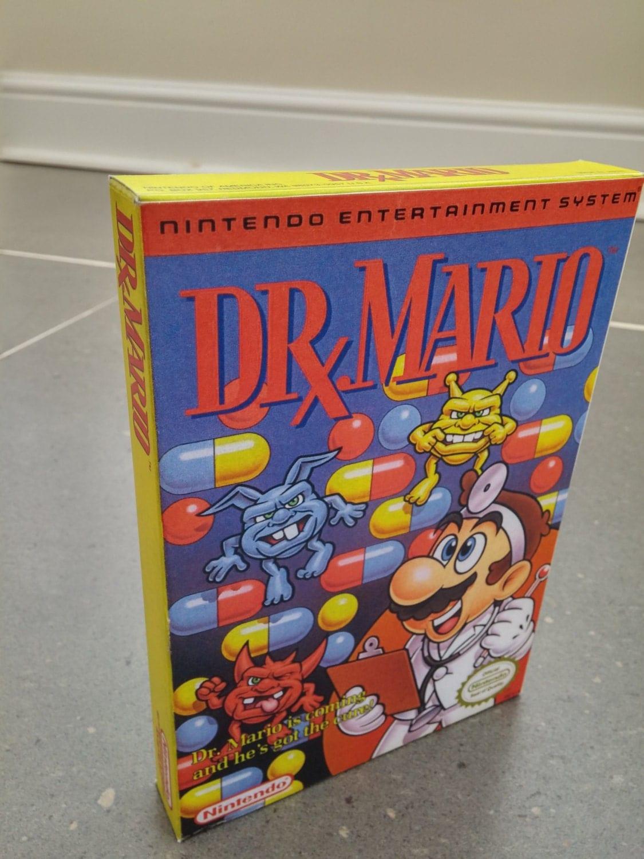 NES Dr Mario  Repro Box NO Game Included
