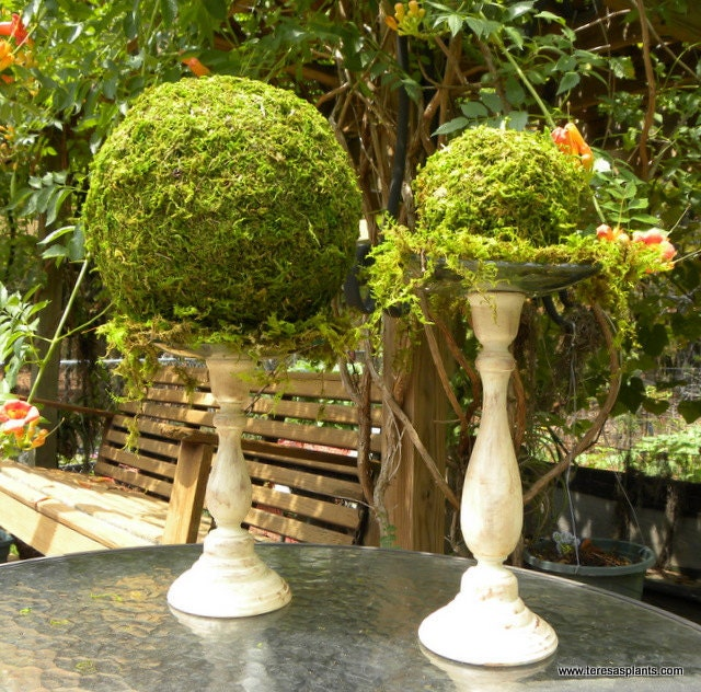"8"" Moss Balls-Kissing Wedding Balls-Fairy Party-Woodland ..."