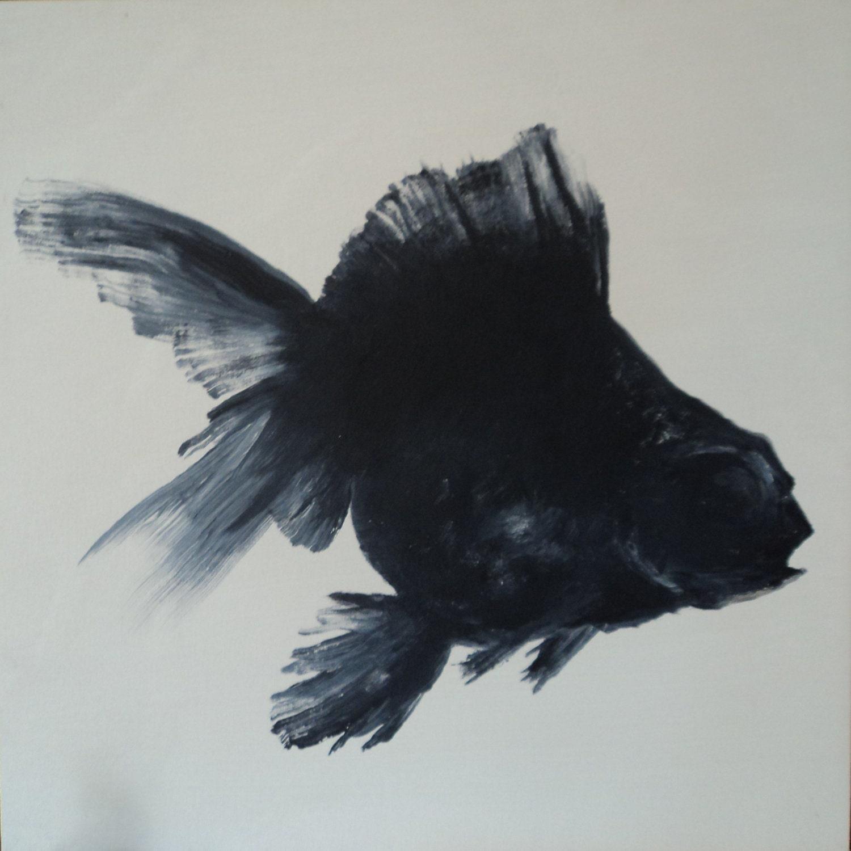 BLACK and WHITE GOLDFISH by ChadPHuntFineArt on Etsy