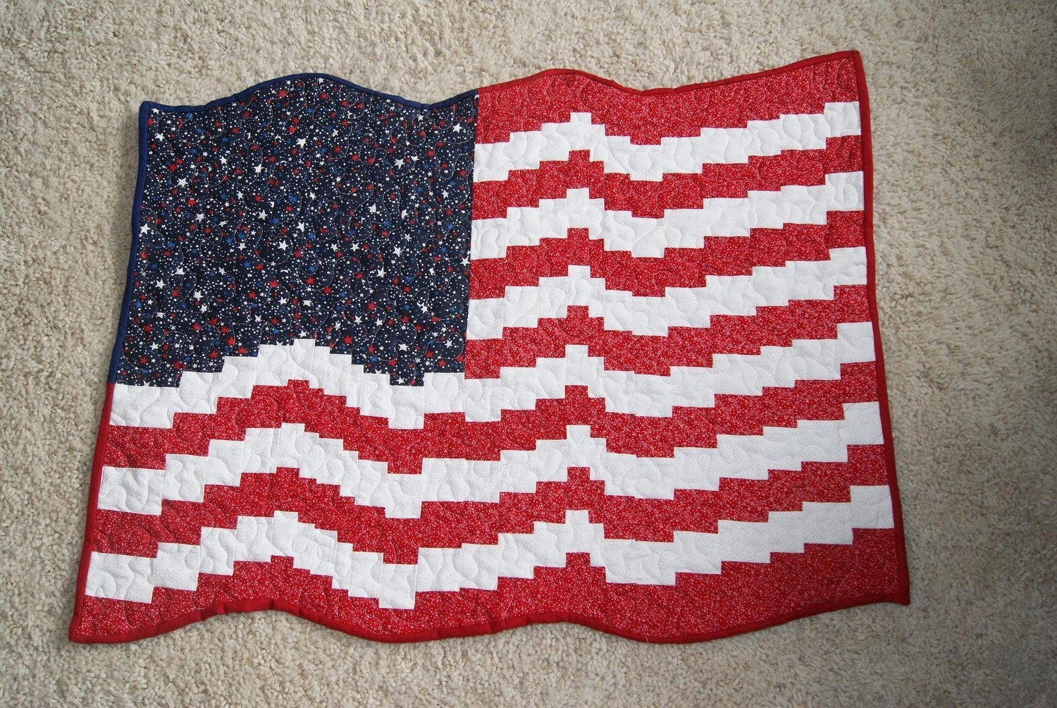 flag wall hanging great way to support the usa by. Black Bedroom Furniture Sets. Home Design Ideas