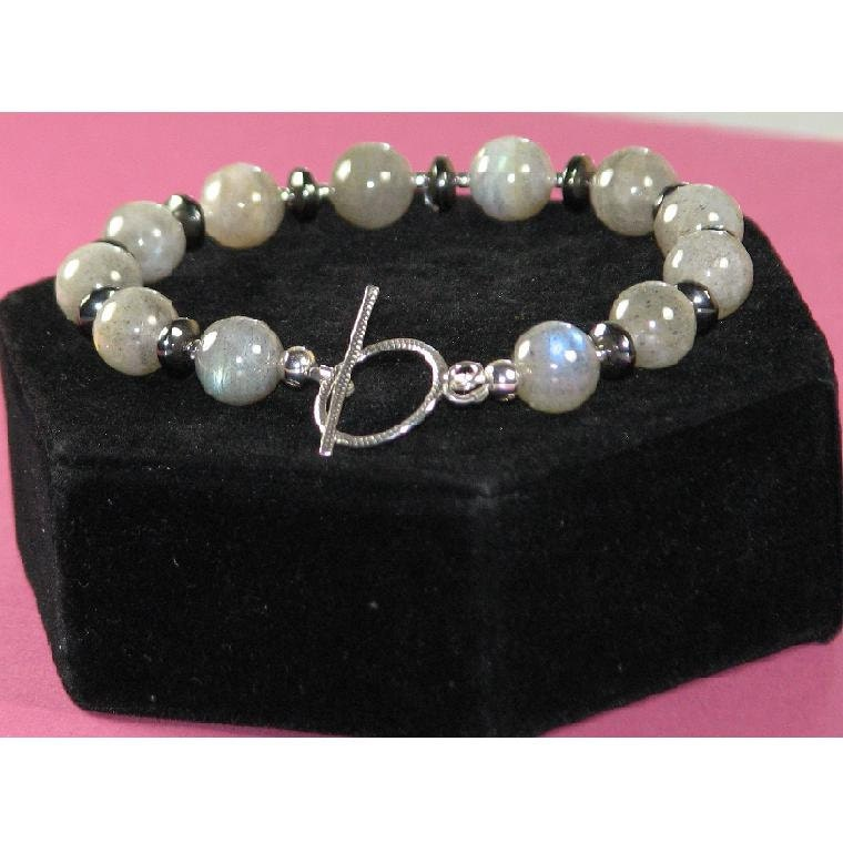 Men's Labradorite Bracelet - Free Shipping in US