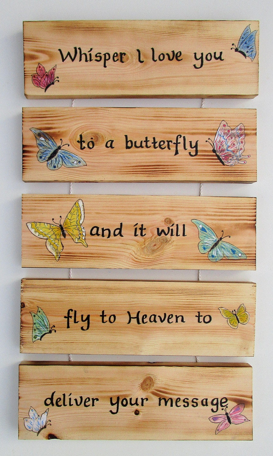 Butterfly Wall Plaque  Butterfly Gifts  Handmade  Home Decor  Home Accessories  Memorial  Home and Living  Art and Collectibles