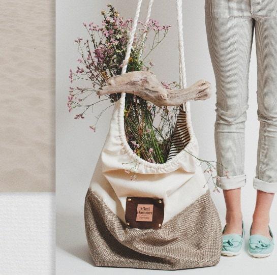 Navire Beach bag - White - MimiHammer