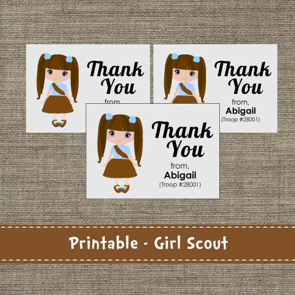 Items similar to Girl Scouts - Brownie - Junior - Daisy - Thank You ...
