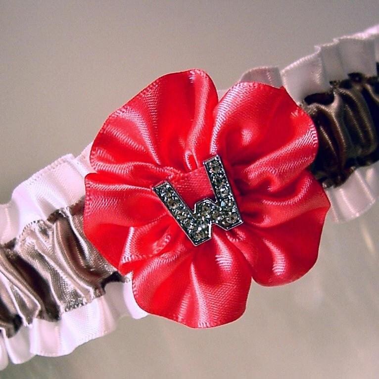 LOVE LETTERS your INITIAL in BLING  garter monogram  A  PETERENE ORIGINAL design CRYSTALS