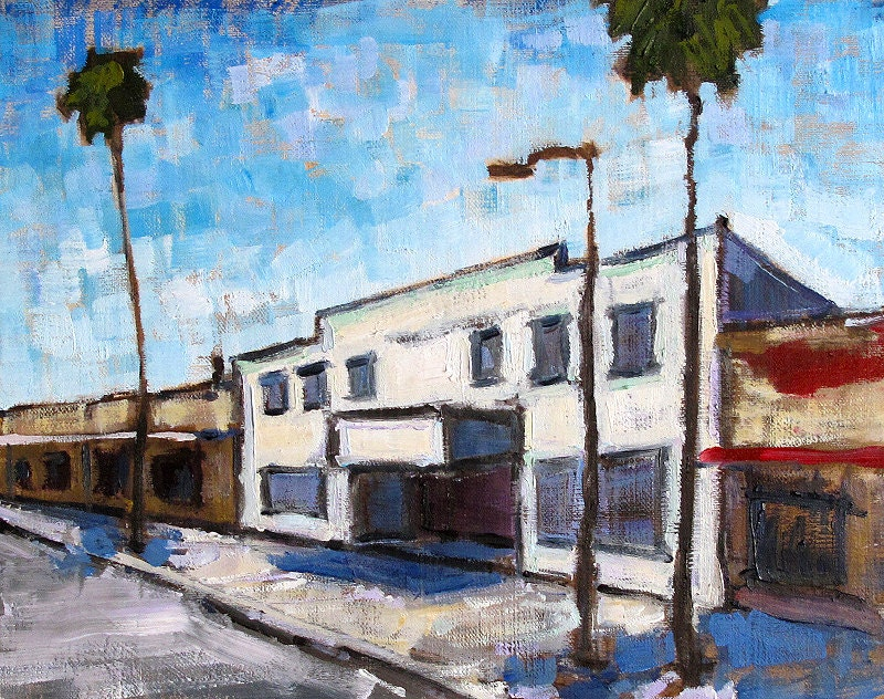 Palm Trees in Ocean Beach- San Diego Painting
