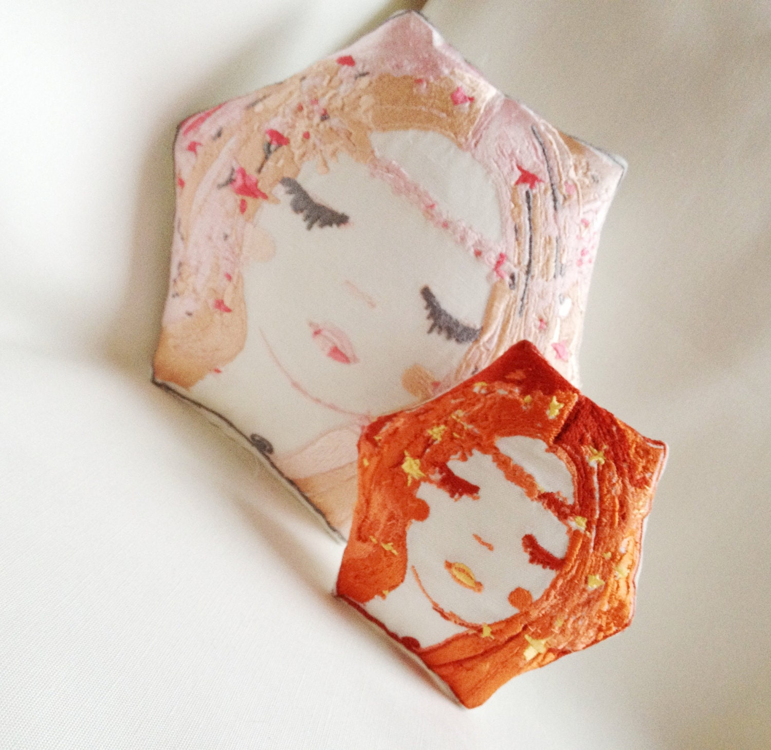 Little Lexy, Artistic Embroidery Throw Cushion